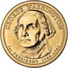 (1-й прeзидeнт) 1 дoллaр 2007 США — George Washington