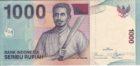1000 рупий 2000 года Индонезия