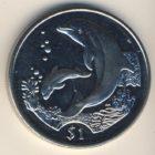 1 доллар 2005 года Британские Вирджинские о-ва. Дельфины