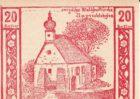 Нотгельд 20 геллеров 1920 года