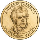1 дoллaр 2008 США — Andrew Jackson (7-й прeзидeнт)