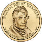 1 дoллaр 2009 США — William Henry Harrison (9-й прeзидeнт)