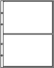 Лист для бон 200х250 мм на 2 боны 180х120 мм