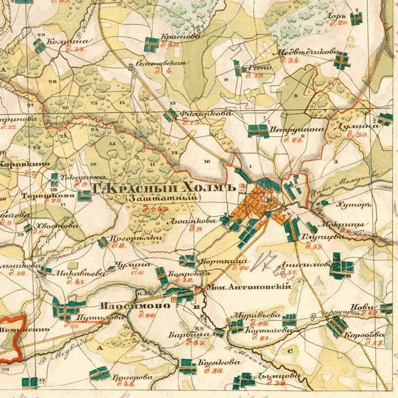 Карты Тверской Губернии 18 Века