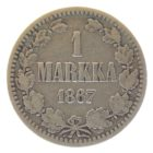 1 марка 1867 г. S для Финляндии