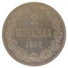 2 марки 1908 г. L для Финляндии
