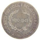 Дания. 2 кроны 1945 г. «75 лет со дня рождения Короля Кристиана X»