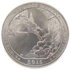 25 центов США 2015 г. «Автомагистраль Блу-Ридж»