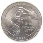25 центов США 2015 г. «Национальный исторический парк Саратога»