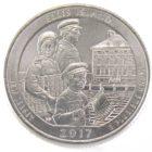 25 центов США 2017 г. «Национальный монумент острова Эллис»