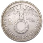 2 рейхсмарки 1939 г. D