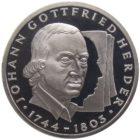 10 марок 1994 г. «250 лет со дня рождения Иоганна Готфрида Гердера»