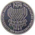 5 марок 1974 г. «25 лет со дня принятия конституции ФРГ»