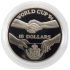 Острова Ниуэ. 10 долларов 1991 г. «Чемпионат по футболу 1994»