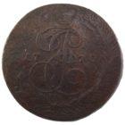 5 копеек 1770 г. ЕМ (гладкий гурт)