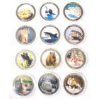 Уганда. Набор монет. 100 шиллингов 2010 г. «Животные Людоеды» (12 шт.)