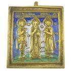 Икона. «Три Святых» (3 эмали)