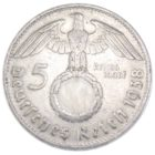 5 рейхсмарок 1938 г. D