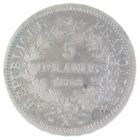 Франция. 5 франков 1848 г.