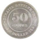 Стрейтс-Сетлментс. 50 центов 1920 г.