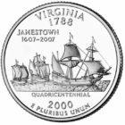 25 центов США Штат Вирджиния