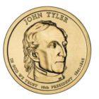 1 дoллaр 2009 США — John Tyler (10-й прeзидeнт)