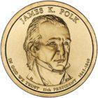 1 доллар 2009 США — James Knox Polk (11-й президент)