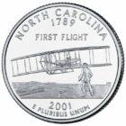 25 центов США Штат Северная Каролина