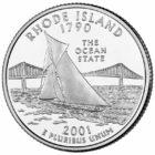 25 центов США Штат Род-Айленд