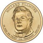 1 доллар 2010 США — Millard Fillmore (13-й президент)