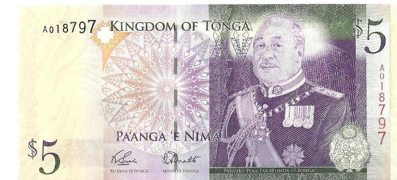 5 долларов Тонго