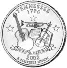 25 центов США Штат Теннесси