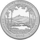 25 центов США Национальный лес Белые горы Нью-Гэмпшир