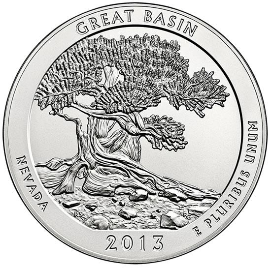 25 центов США Национальный парк Грейт-Бейсин Невада