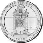 25 центов США Национальный парк Хот-Спрингс Арканзас