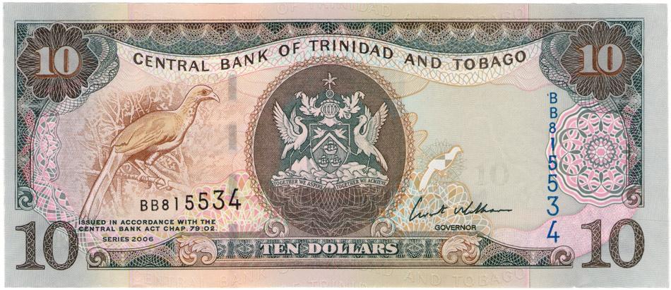 10 долларовТринидад и Тобаго