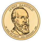 1 доллар 2011 США — James Garfield (20-й президент)