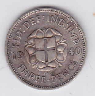 3 пенса 1940 года