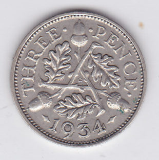 3 пенса 1934 года