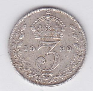 3 пенса 1920 года
