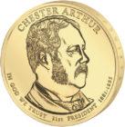 1 доллар 2010 США — Chester Arthur (21-й президент)