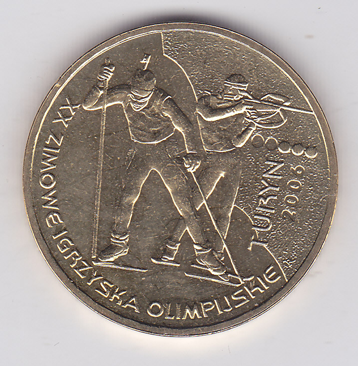 2 злотых 2006 года Зимние Олимпийские игры Турин 2006