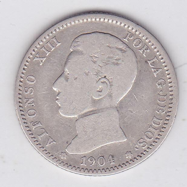 1 песета 1904 года