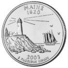 25 центов США Штат Мэн