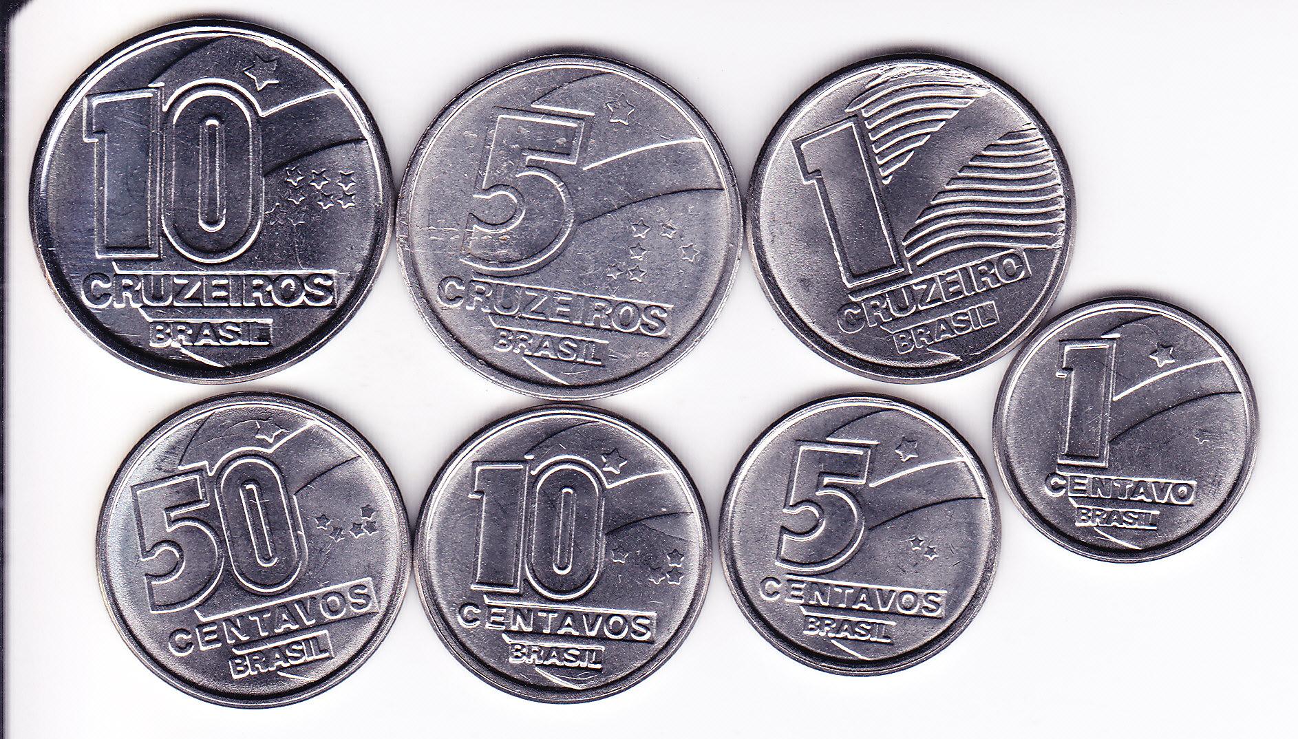 Набор монет Бразилия 7 шт