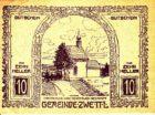 Нотгельд 10 геллеров 1921 года