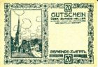 Нотгельд 20 геллеров 1921 года