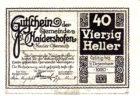 Нотгельд 40 геллеров 1920 года