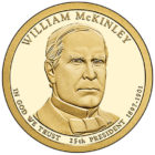 1 доллар 2013 года Уильям Мак-Кинли ( William McKinley ) ( 25-й президент )