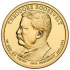 1 доллар 2013 года Теодор Рузвельт ( Theodore Roosevelt 26 президент)